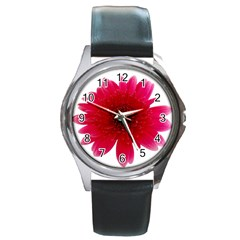 Flower Isolated Transparent Blossom Round Metal Watch by Nexatart