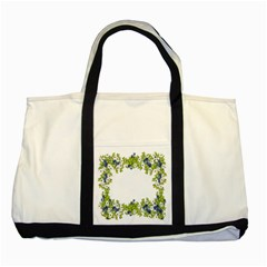 Birthday Card Flowers Daisies Ivy Two Tone Tote Bag