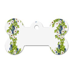 Birthday Card Flowers Daisies Ivy Dog Tag Bone (two Sides)