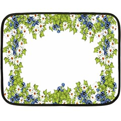 Birthday Card Flowers Daisies Ivy Double Sided Fleece Blanket (mini)  by Nexatart