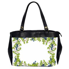 Birthday Card Flowers Daisies Ivy Office Handbags (2 Sides)  by Nexatart
