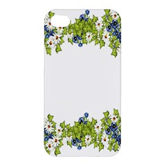 Birthday Card Flowers Daisies Ivy Apple Iphone 4/4s Hardshell Case by Nexatart