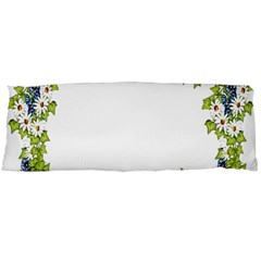 Birthday Card Flowers Daisies Ivy Body Pillow Case Dakimakura (two Sides)