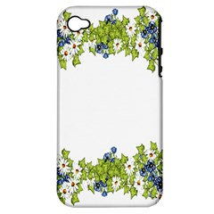 Birthday Card Flowers Daisies Ivy Apple Iphone 4/4s Hardshell Case (pc+silicone) by Nexatart