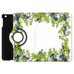 Birthday Card Flowers Daisies Ivy Apple Ipad Mini Flip 360 Case by Nexatart