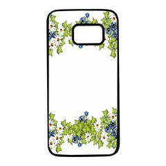 Birthday Card Flowers Daisies Ivy Samsung Galaxy S7 Black Seamless Case by Nexatart