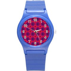 Retro Abstract Boho Unique Round Plastic Sport Watch (s) by Nexatart