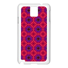 Retro Abstract Boho Unique Samsung Galaxy Note 3 N9005 Case (white) by Nexatart