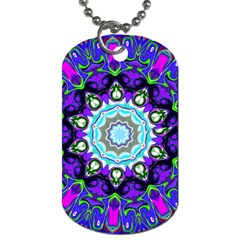 Graphic Isolated Mandela Colorful Dog Tag (one Side)