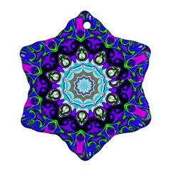 Graphic Isolated Mandela Colorful Snowflake Ornament (two Sides) by Nexatart