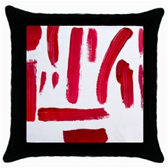 Paint Paint Smear Splotch Texture Throw Pillow Case (black) by Nexatart