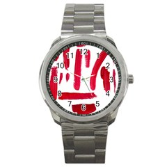 Paint Paint Smear Splotch Texture Sport Metal Watch by Nexatart