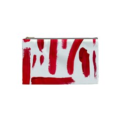 Paint Paint Smear Splotch Texture Cosmetic Bag (small)