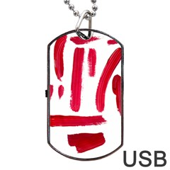 Paint Paint Smear Splotch Texture Dog Tag Usb Flash (two Sides)