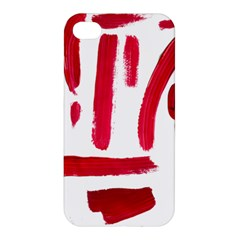 Paint Paint Smear Splotch Texture Apple Iphone 4/4s Premium Hardshell Case