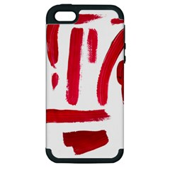 Paint Paint Smear Splotch Texture Apple Iphone 5 Hardshell Case (pc+silicone)