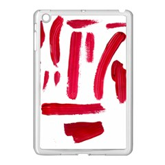 Paint Paint Smear Splotch Texture Apple Ipad Mini Case (white) by Nexatart