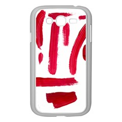 Paint Paint Smear Splotch Texture Samsung Galaxy Grand Duos I9082 Case (white) by Nexatart