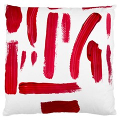 Paint Paint Smear Splotch Texture Large Flano Cushion Case (one Side) by Nexatart