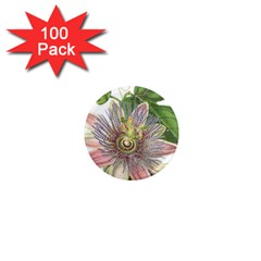 Passion Flower Flower Plant Blossom 1  Mini Magnets (100 Pack)  by Nexatart