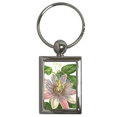 Passion Flower Flower Plant Blossom Key Chains (rectangle)