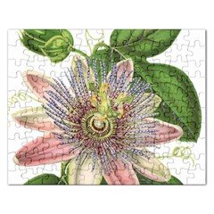 Passion Flower Flower Plant Blossom Rectangular Jigsaw Puzzl by Nexatart