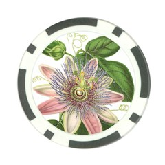 Passion Flower Flower Plant Blossom Poker Chip Card Guard by Nexatart