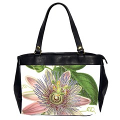 Passion Flower Flower Plant Blossom Office Handbags (2 Sides)  by Nexatart