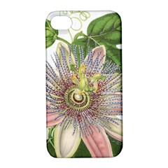 Passion Flower Flower Plant Blossom Apple Iphone 4/4s Hardshell Case With Stand