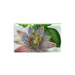Passion Flower Flower Plant Blossom Cosmetic Bag (xs) by Nexatart