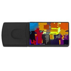 Abstract Vibrant Colour Usb Flash Drive Rectangular (4 Gb) by Nexatart