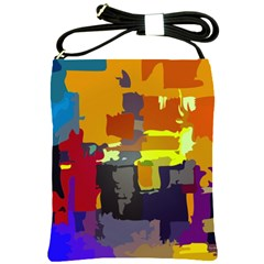 Abstract Vibrant Colour Shoulder Sling Bags