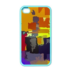 Abstract Vibrant Colour Apple Iphone 4 Case (color) by Nexatart
