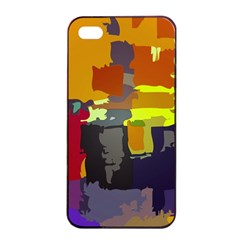 Abstract Vibrant Colour Apple Iphone 4/4s Seamless Case (black)