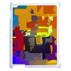 Abstract Vibrant Colour Apple Ipad 2 Case (white) by Nexatart