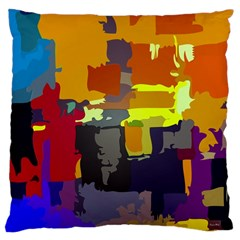Abstract Vibrant Colour Large Cushion Case (one Side) by Nexatart