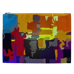 Abstract Vibrant Colour Cosmetic Bag (xxl)  by Nexatart