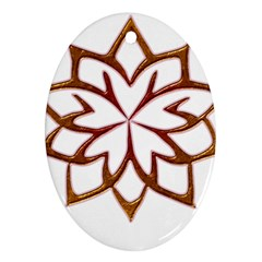 Abstract Shape Outline Floral Gold Ornament (oval)