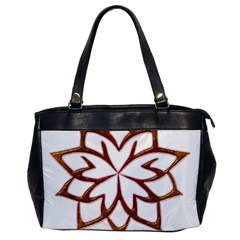Abstract Shape Outline Floral Gold Office Handbags by Nexatart