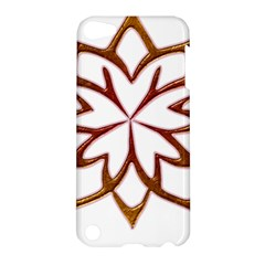 Abstract Shape Outline Floral Gold Apple Ipod Touch 5 Hardshell Case