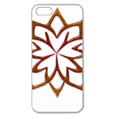 Abstract Shape Outline Floral Gold Apple Seamless Iphone 5 Case (clear) by Nexatart
