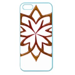 Abstract Shape Outline Floral Gold Apple Seamless Iphone 5 Case (color) by Nexatart