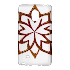 Abstract Shape Outline Floral Gold Galaxy Note Edge