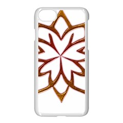 Abstract Shape Outline Floral Gold Apple Iphone 7 Seamless Case (white) by Nexatart