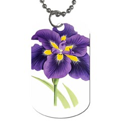 Lily Flower Plant Blossom Bloom Dog Tag (one Side)