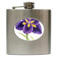 Lily Flower Plant Blossom Bloom Hip Flask (6 Oz) by Nexatart