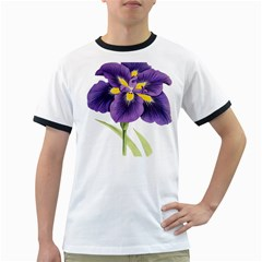 Lily Flower Plant Blossom Bloom Ringer T Shirts