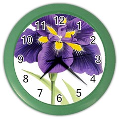 Lily Flower Plant Blossom Bloom Color Wall Clocks