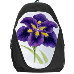 Lily Flower Plant Blossom Bloom Backpack Bag by Nexatart