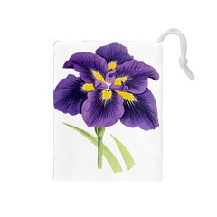 Lily Flower Plant Blossom Bloom Drawstring Pouches (medium)